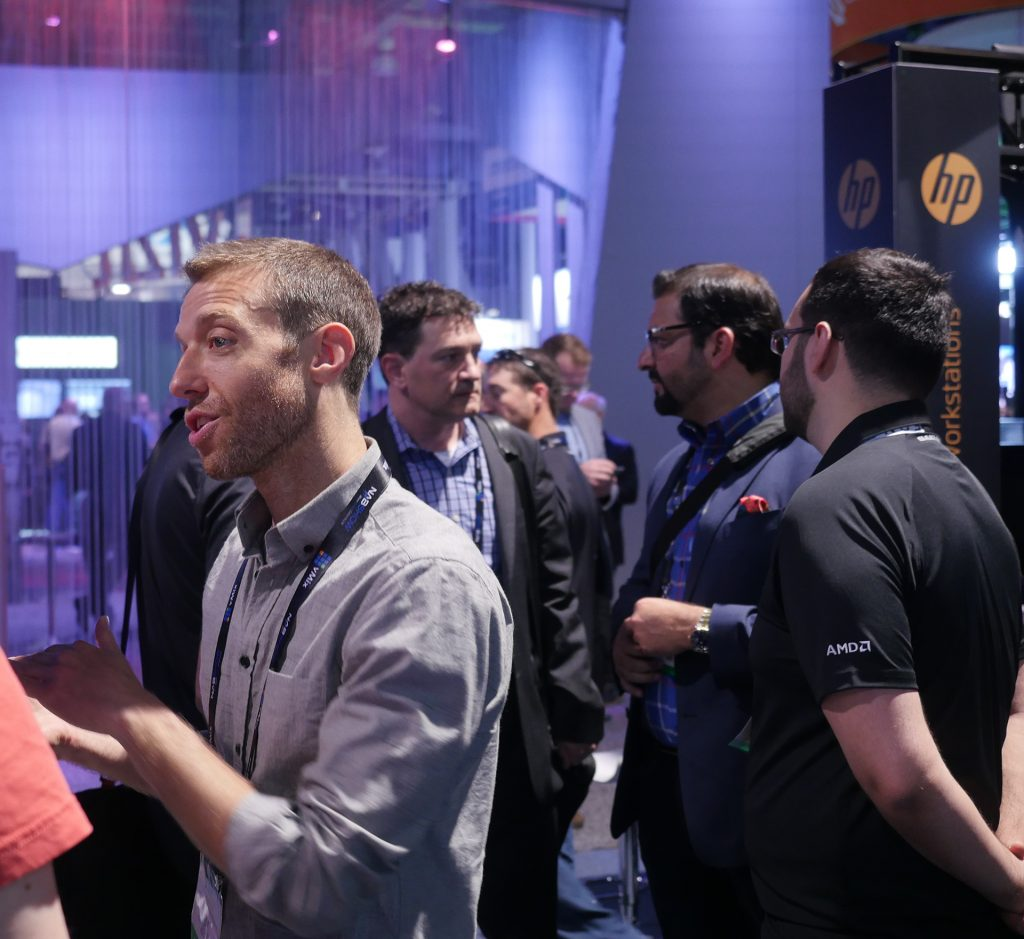 AMD Radeon™ Pro GPUs were featured in several compelling demos in the AMD Radeon™ Pro Technology Zone