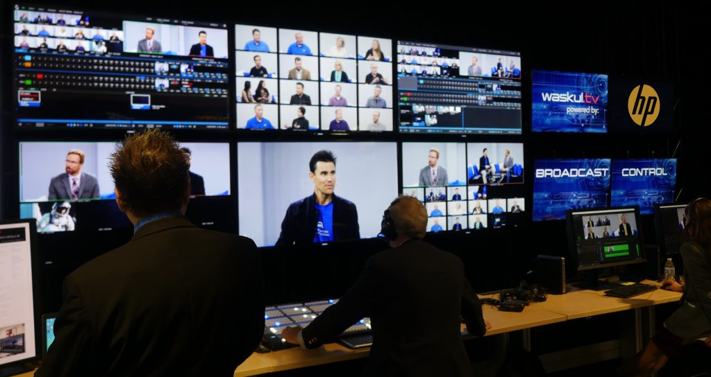 The Waskul.TV StudioXperience Broadcast Control Center at the 2017 NAB Show featured IP and 1080p production workflows for the live broadcast and 4K workflows for editorial and post production