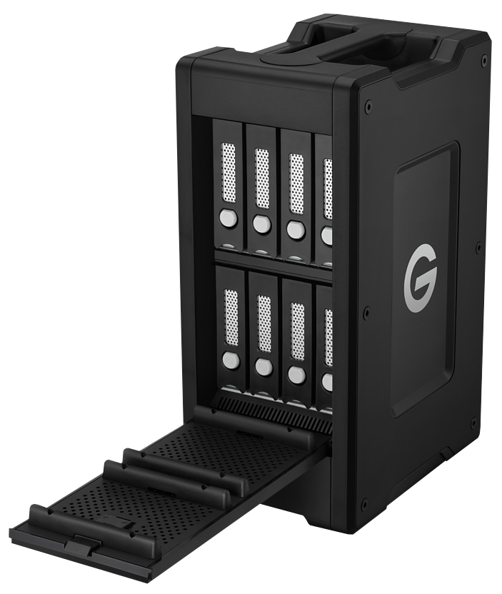 The G-Technologies G|Speed Shuttle XL made it easy for our team to transfer the large 4K camera files to shared storage.