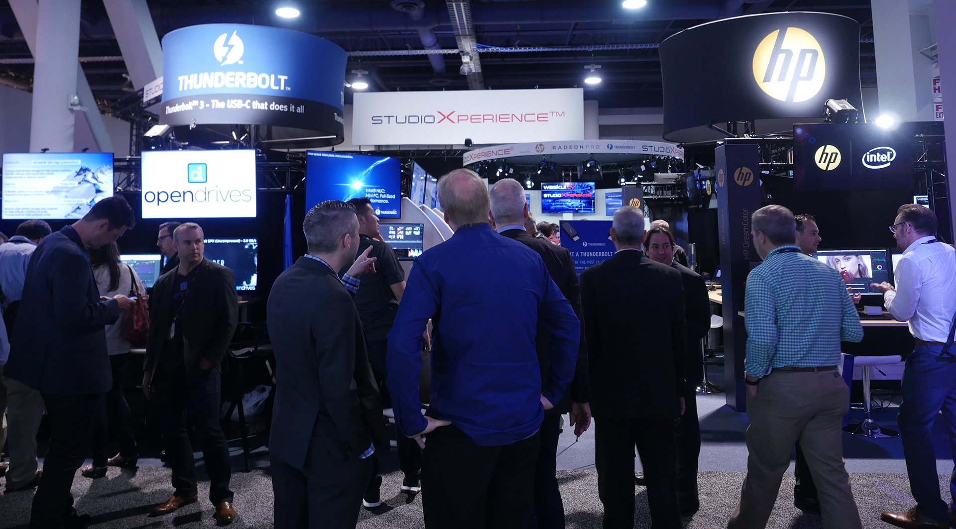The StudioXperience HP and Thunderbolt Technology Zones at the 2017 NAB Show featured 24 compelling demos for attendees to interact with