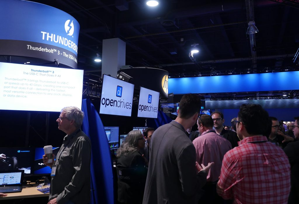 The StudioXperience Thunderbolt Zone at the 2017 NAB Show featured a wide range of solutions for the StudioXperience guests