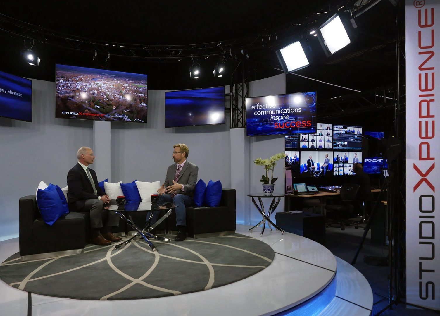 HP's Chris Fries talks with Steve Waskul about HP thin clients during a live Waskul.TV interview in the StudioXperience Broadcast Studio at the 2017 NAB Show