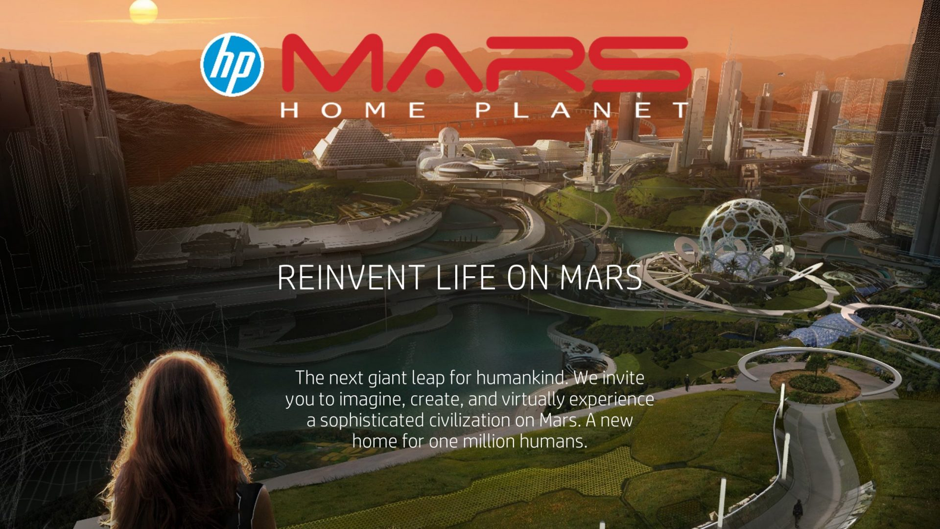 The Mars 2030 VR experience was enjoyed by attendees on the new HP Z VR Backpack as they experienced the current state of the collaborative project to design a city on Mars capable of supporting a million earthlings.