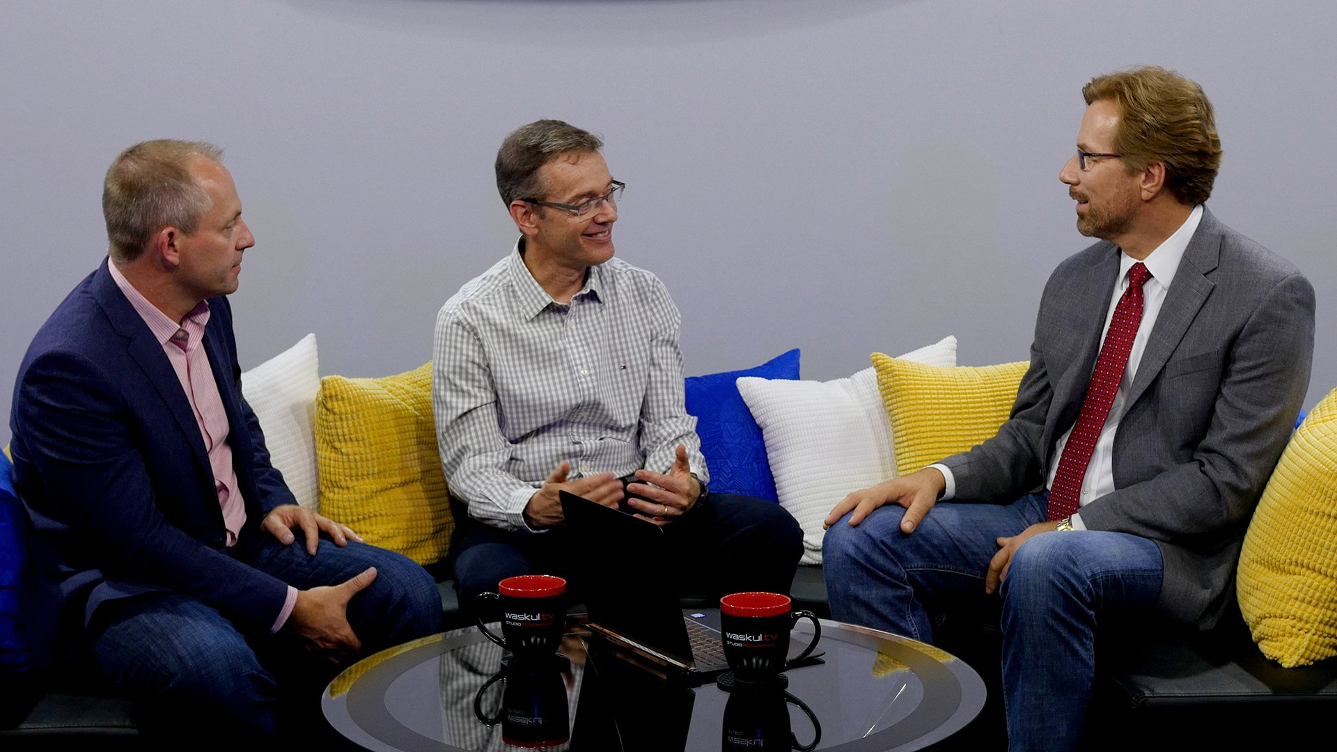 Xavi Garcia, General Manager and Global Head of HP Workstations and Josh Peterson, VP, Head of Worldwide Product Management for HP Workstations with Steve Waskul on the StudioXperience Broadcast Stage at SIGGRAPH 2017
