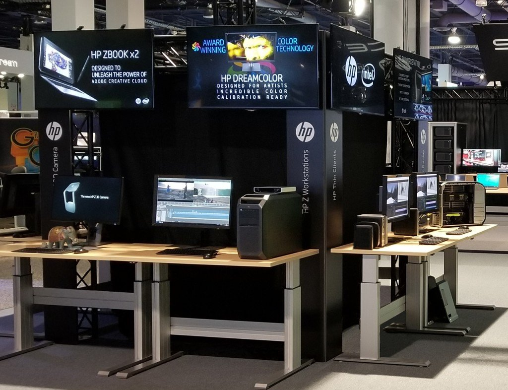 HP Z Workstations, Thin Clients and the HP Z 3D Camera were featured in demonstrations at StudioXperience at the 2018 NAB Show