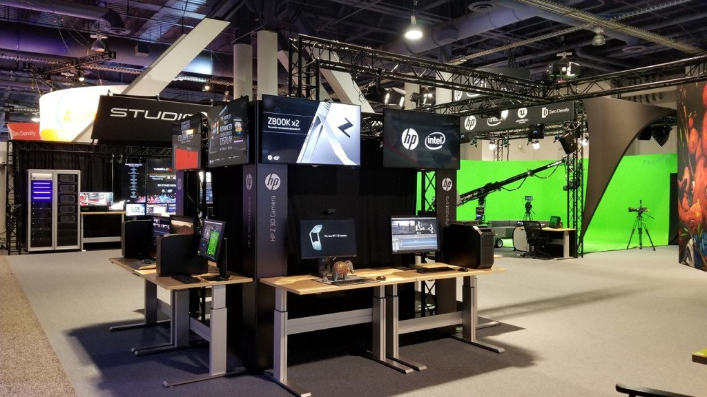 HP Z Workstations and DreamColor Professional Displays took center stage in StudioXperience in a range of demos at the 2018 NAB Show