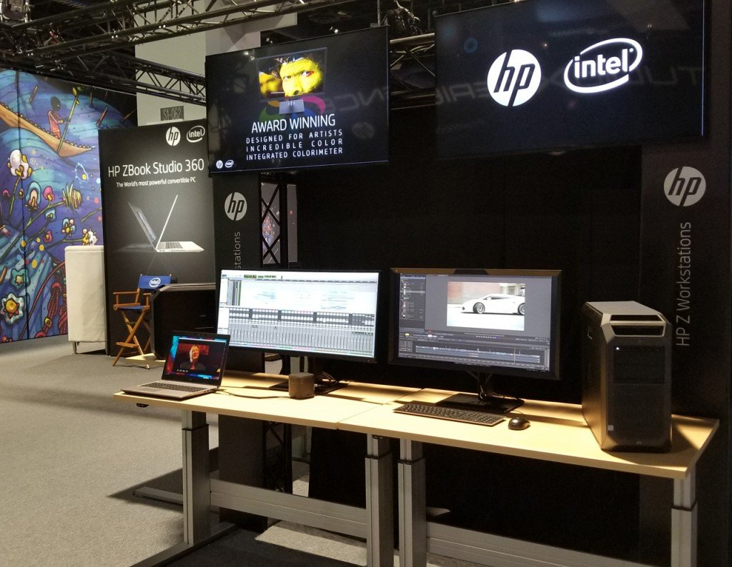 One of the HP Z Workstation demos showcased in StudioXperience at the 2018 NAB Show